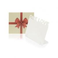 Фоторамка  «One Love», металл, 174х142х23мм