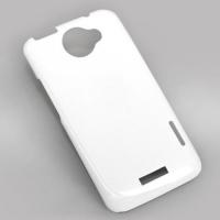 Чехол для 3D пластиковый белый глянцевый для HTC One X