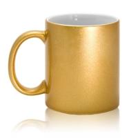 Кружка керамическая, золотая, 330 мл