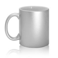 Кружка керамическая, серебряная, 330 мл