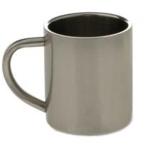Кружка металлическая, серебряная, 300мл