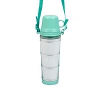 Бутылка для воды, пластиковая с ремешком, салатовая, 460 мл