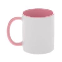 Кружка розовая внутри с розовой ручкой, 330 мл