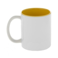 Кружка жёлтая внутри с жёлтой ручкой, 330 мл