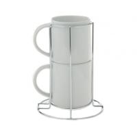 Пара кофейных чашек с подставкой в комплекте