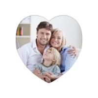 Магнит фигурный, сердце, винил, диаметр 95 мм