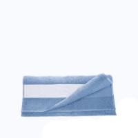 Полотенце махровое 30*70 см, 400 г/м2, хлопок, голубое
