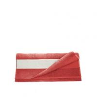 Полотенце махровое 30*70 см, 400 г/м2, хлопок, красное