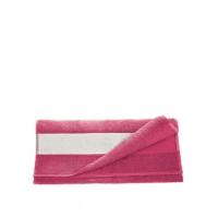 Полотенце махровое 30*70 см, 400 г/м2, хлопок, розовое
