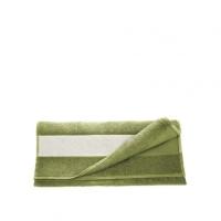 Полотенце махровое 30*70 см, 400 г/м2, хлопок, зелёное
