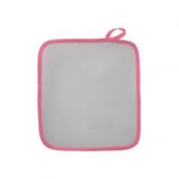 Прихватка с розовой окантовкой, атлас